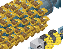 Duco Ltd cable and hose plant isometric illustrations
