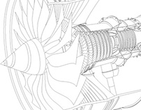 Trent turbine illustration produced for CapaciSense