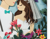 Papercut for wedding magazine