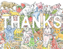 Thanks | Greeting Card Illustration