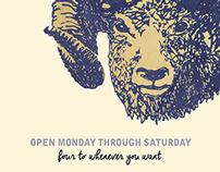 The Ram Restaurant Spring Identity