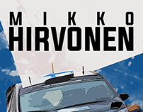 Poster Fan Art - Mikko Hirvonen - WRC Driver
