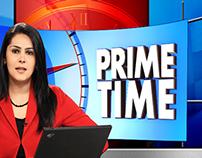 Virtual bg chroma news set