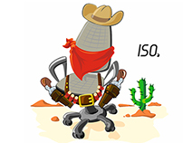 Iso Chair Cow Boy