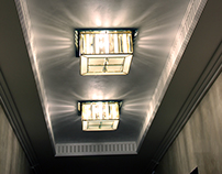 Ceiling lights and ceiling stained glass