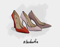 LOUBOUTIN // social media illustration