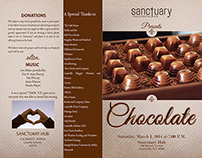 Program for Chocolate Tasting Charity Event