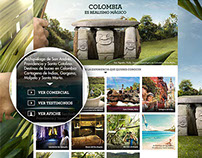 Responsive Web Site - Colombia Realismo Mágico
