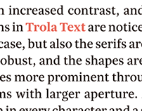 Trola Text Family