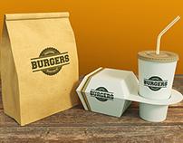 Burger Branding Mock-Ups
