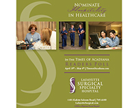 2012. Lafayette Surgical Specialty Hospital Ads.