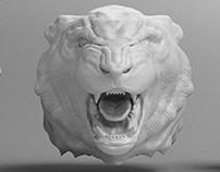 Tiger Head / 3D Sculpt
