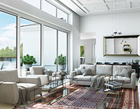 Living Room 3D Rendering for El Paso Project