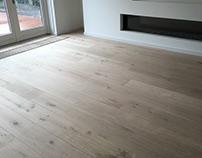 natuurlijk houten vloer, eiken 26 cm breed