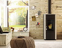 rendering interior fireplaces