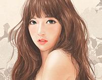 Pretty girl illustrartion - Zipcy