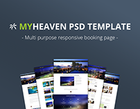 My Heaven - Online Booking PSD Template