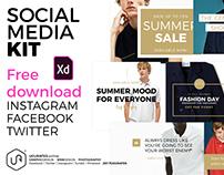 Social Media Kit - Adobe XD 2018