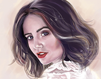 Digital Painting . Lily Collins