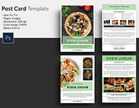 Food Postcard Flyer Template