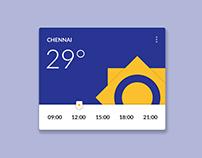 Weather Widget - Material Design