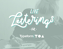 Live Letterings for Typeform at TOA