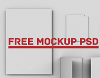 PSD Exhibition Identity Mockup Free