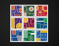 NBA Stamp Collection