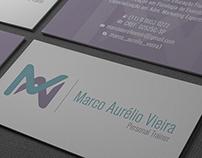 Logo e Cartão de Visitas - Personal Marco Aurélio