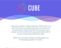 Cube Branding and Landing Page