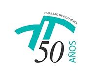 Isologo 50° Aniversario Facultad de Ingeniería, UNMDP