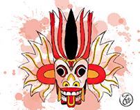 Contemporary take on Sri Lankan Masks