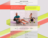 Back to the Gym - Landing Page