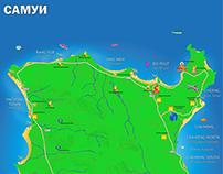 карты острова Самуи