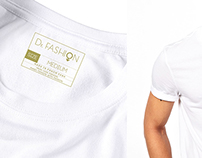 T-Shirt Label Design Dr, Fashion by Chin FDesign