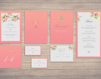 Coral Rose Wedding Invitations & Stationery