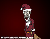 Speed paint and vector - Santa is coming