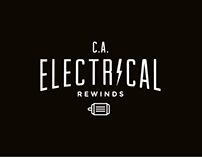 C.A. Electrical Rewinds Logo & Collateral