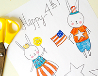 Fourth of July Paper Dolls | Printable Design