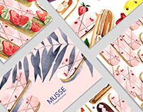 Illustrations for Musse Confectionery