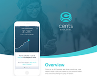 Cents App Identity & UI Design