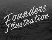 Founders Brewing Type Illustration