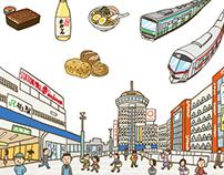 Illustration Map(Chiba Prefecture)
