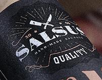 """Packaging design for TM """"Salsus"""" - craft salami"""
