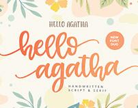 FREE | Hello Agatha Handwritten Font Duo
