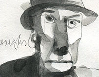 Portrait William Burroughs
