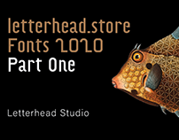 Letterhead Fonts 2020 Part One