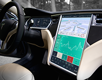 Tesla Car UI (user interface) Concept Model S Redesign