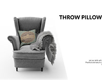 Throw Pillow on Armchair Set