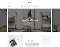 MIA - Blog PSD Template
